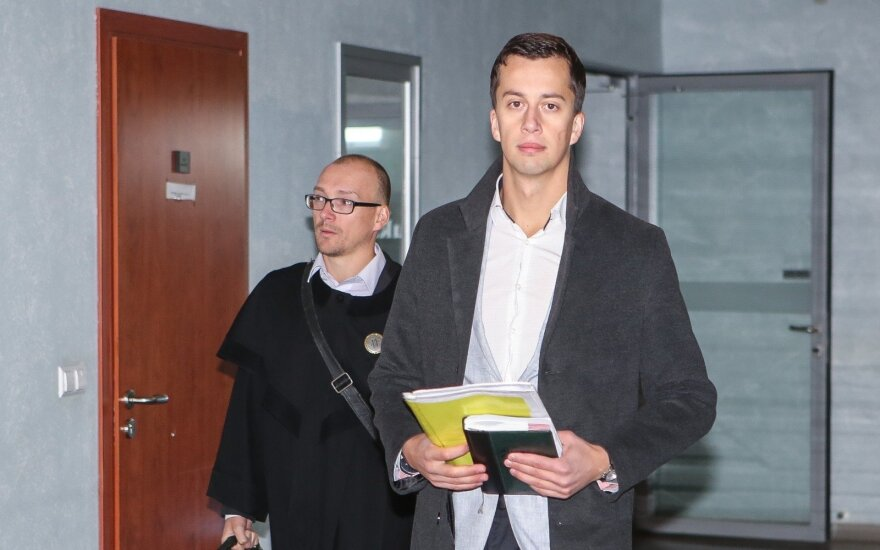 Airinas Arutiunianas ir advokatas Modestas Sriubas