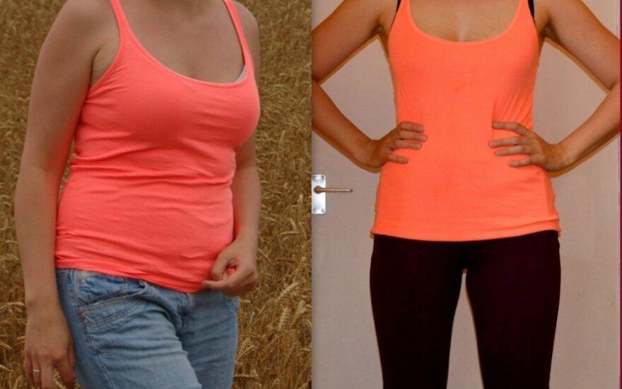Margarita prieš svorio metimą ir po