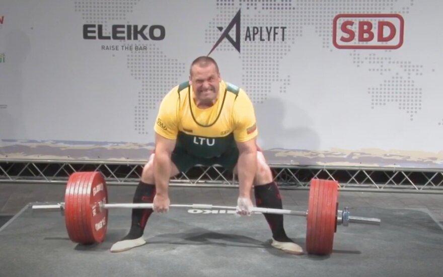 Dėl dopingo vartojimo diskvalifikuotas Lietuvos galiūnas