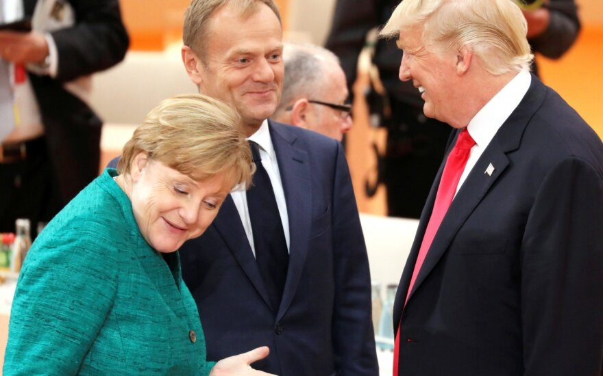 Angela Merkel, Donaldas Tuskas, Donaldas Trumpas