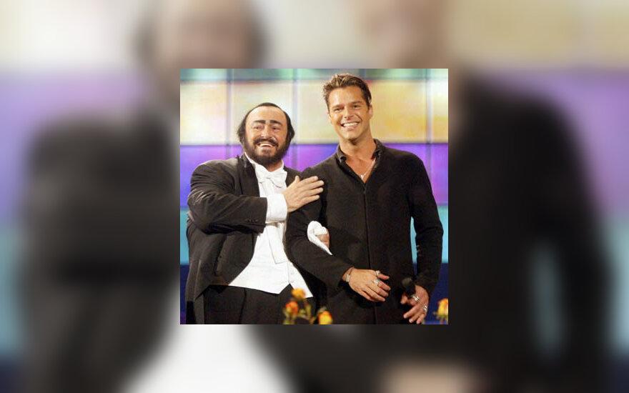 Luciano Pavarotti, Ricky Martin