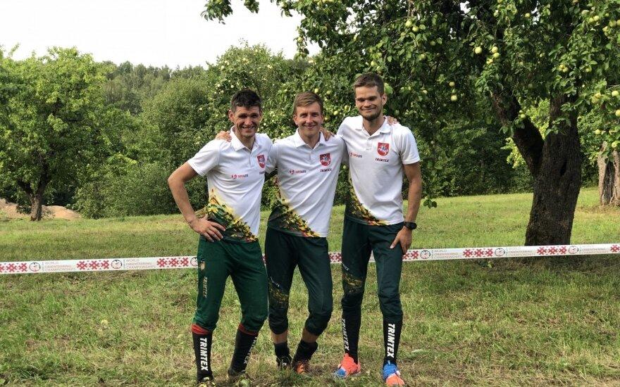 Lietuvos orientavimosi sporto vyrų rinktinės nariai, Simonas Krėpšta, Jonas Vytautas Gvildys, Vilius Aleliūnas