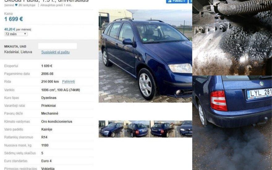 """Po nuvažiuotų 100 kilometrų jurbarkiečio """"Škoda"""" iš techniškai tvarkingos virto nebegalima eksploatuoti"""