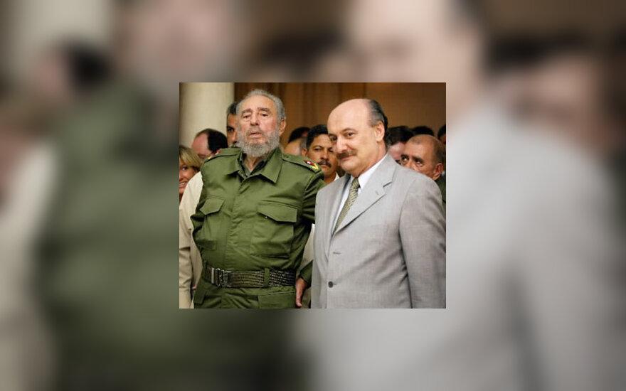 Fidelis Castro  ir Raulas Talebas