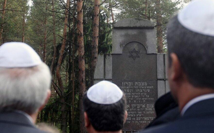 Holokausto aukų pagerbimo ceremonija Aukštųjų Panerių memoriale