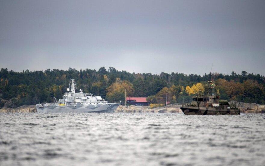 """Švedija gavo naujos informacijos apie pastebėtą """"užsienio povandeninę veiklą"""""""