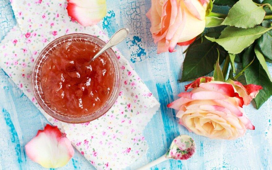 Rožių žiedlapių džemas