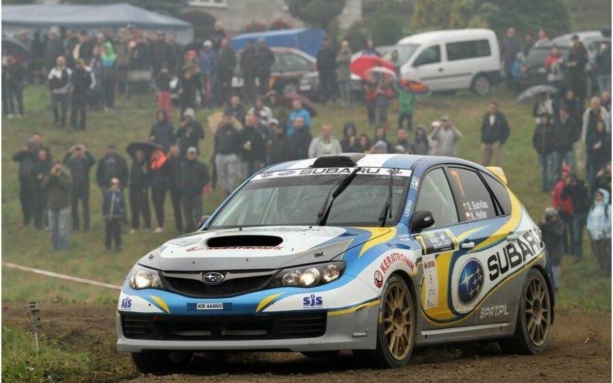 """Dominykas Butvilas ralyje  (""""Subaru Poland Rally Team"""" nuotr.)"""