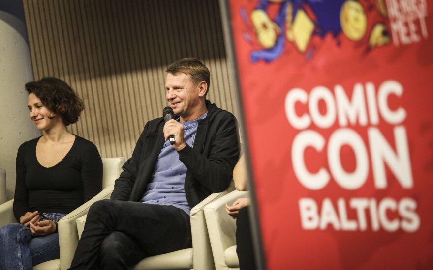 "Rolandas Kazlas ""Comic Con Baltics"" konferencijoje /Foto: Ieva Budzeikaitė"