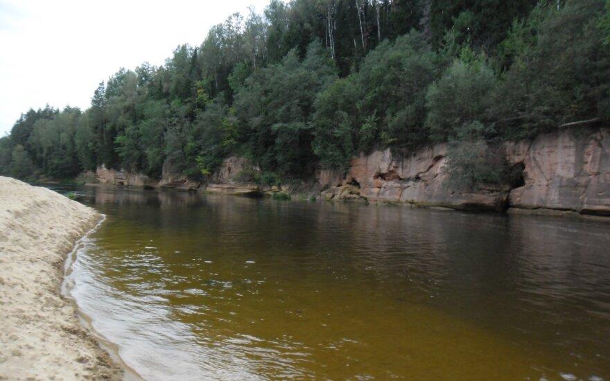 Standartinis Gaujos upės vaizdas