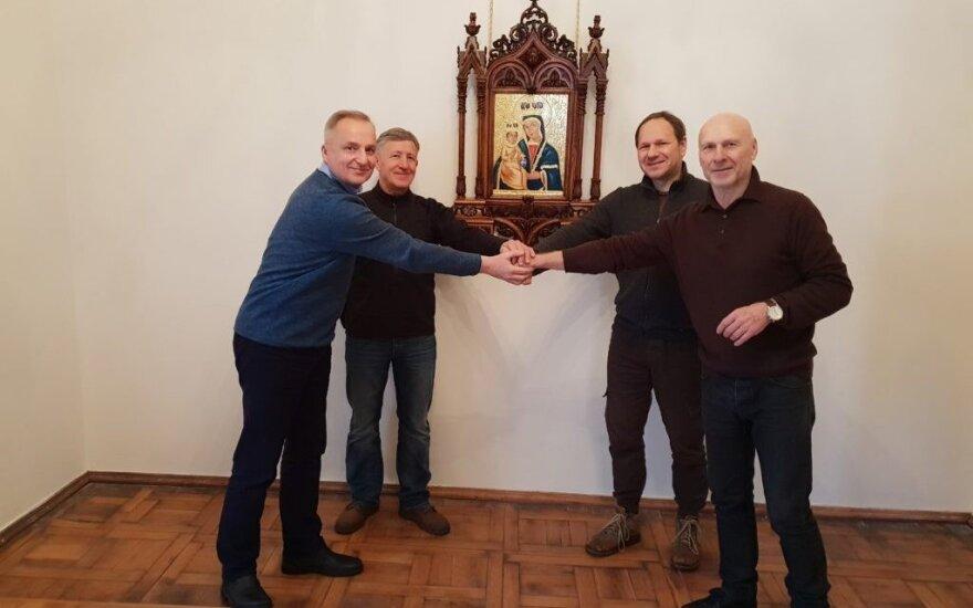 Skirmantas Skrinskas, Virgilijus Stančikas, Gintaras Abaravičius, Svajūnas Armonas // Antano Ulčino nuotr.