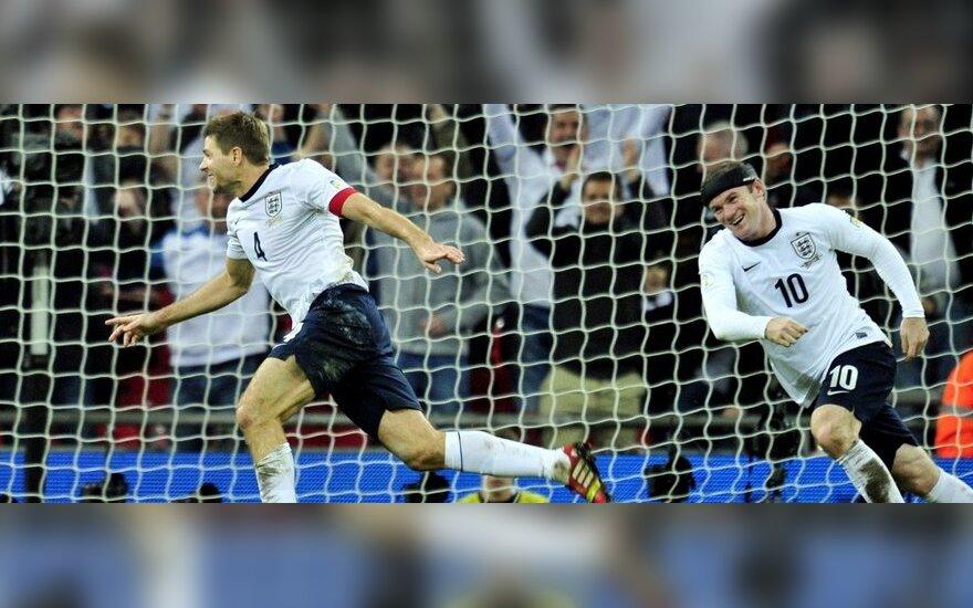 Stevenas Gerrardas ir Wayne'as Rooney