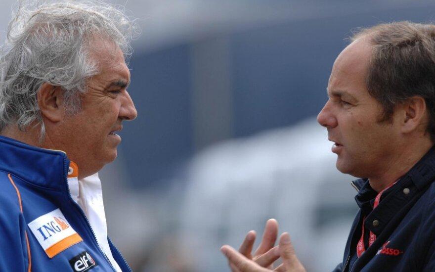 Flavio Briatore ir Gerhardas Bergeris