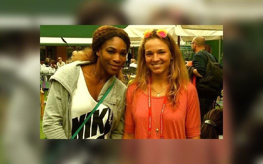 Serena Williams ir Akvilė Paražinskaitė