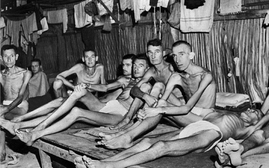 Karo belaisviai, išvaduoti Čangio stovykloje, buvo verčiami dirbti po 18 valandų prie Mirties geležinkelio (Australijos karo memorialo nuotr.)