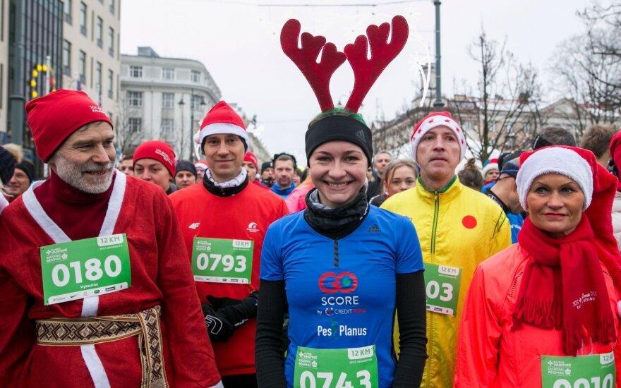 Vilniuje – kalėdinis bėgimas: perspėja apie eismo pokyčius