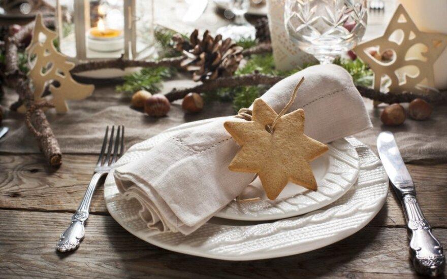 Kalėdų stalo dekoras