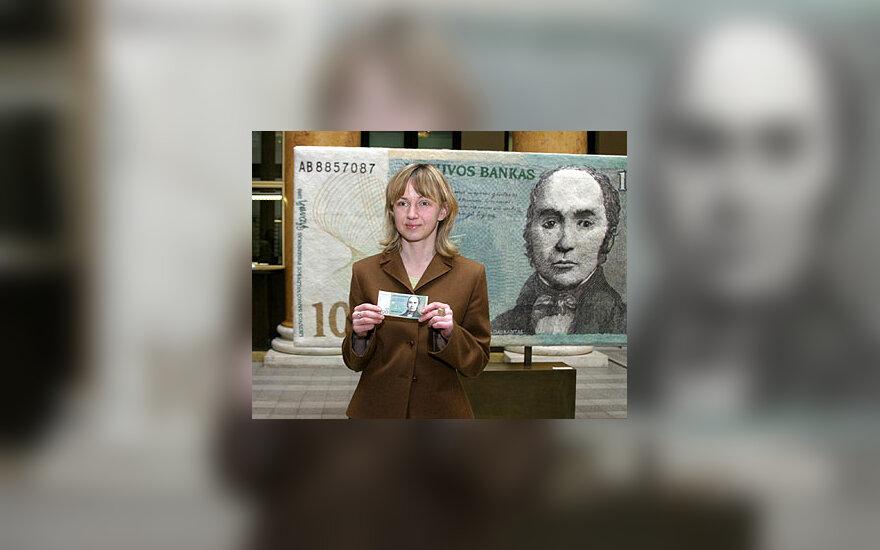 Giedrės Kriaučionytės sukurtas 100 litų vertės banknotas iš vilnos