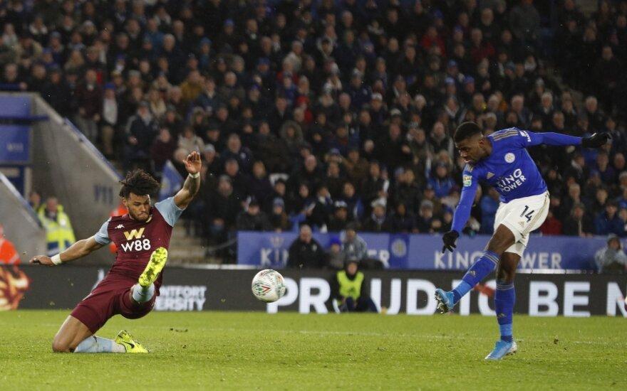 """Dominavęs """"Leicester"""" klubas vos pabėgo nuo pralaimėjimo namuose"""