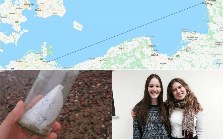 Lietuvos pajūryje rastas šypseną keliantis laiškas butelyje iš Vokietijos