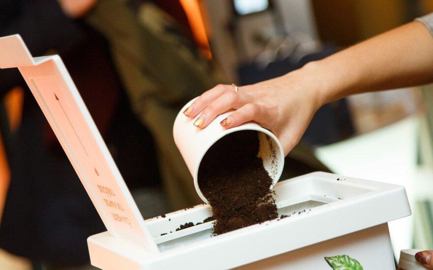 Kavos tirščių rinkimo akcija