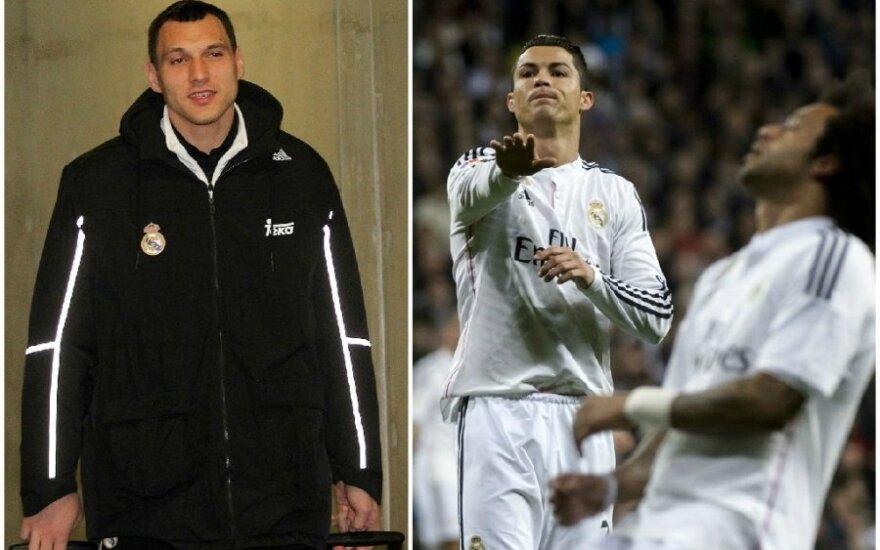Jonas Mačiulis ir Cristiano Ronaldo (DELFI ir AFP/Scanpix nuotr.)
