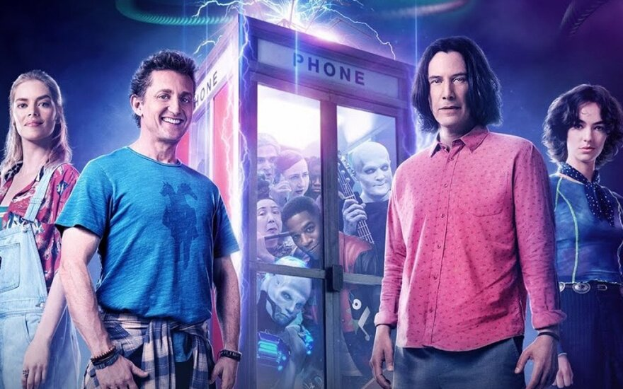 """Filmo """"Bilas ir Tedas gelbėja visatą"""" plakatas"""