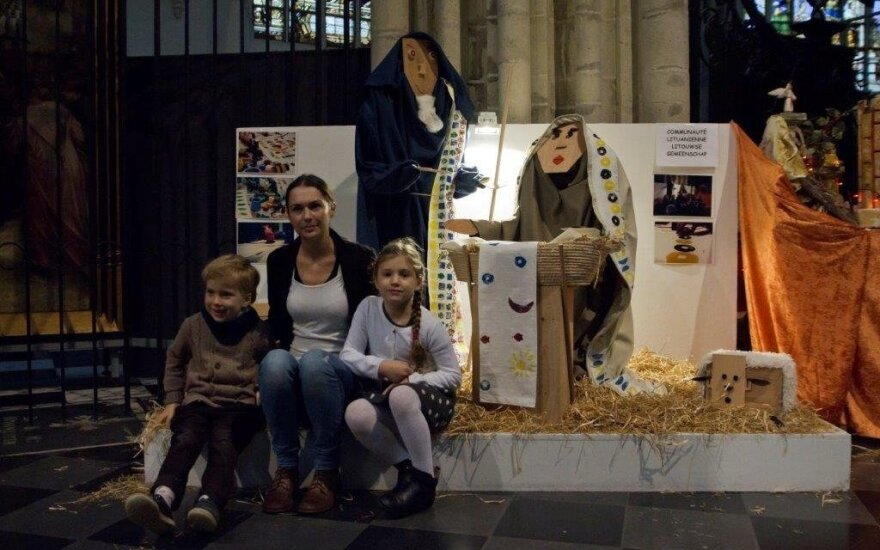Lithuanian Nativity scene in Brussels