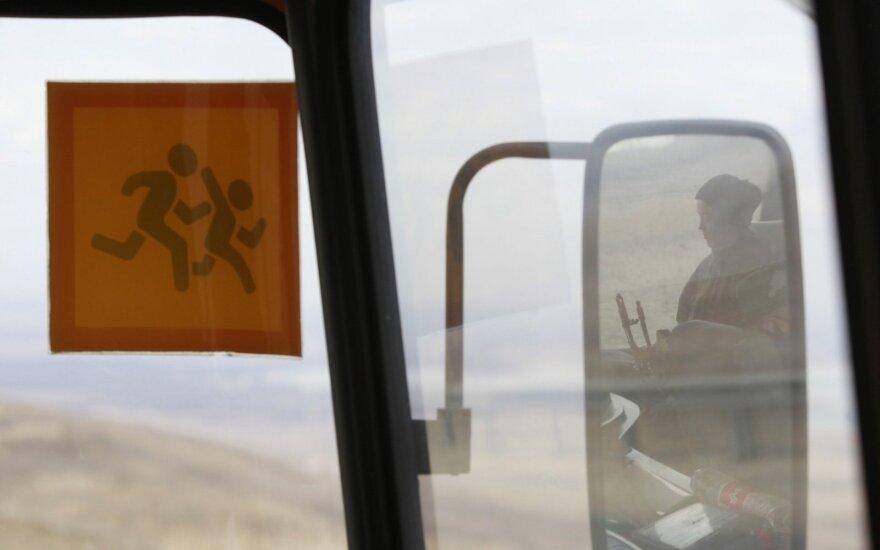 Berlyne sustabdytas tragiškos būklės autobusas su vaikais iš Rusijos