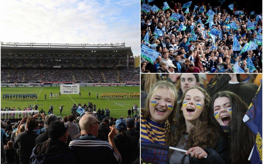 Regbis su žiūrovais grįžo Naujojoje Zelandijoje / Foto: AFP-Scanpix, AP-Scanpix
