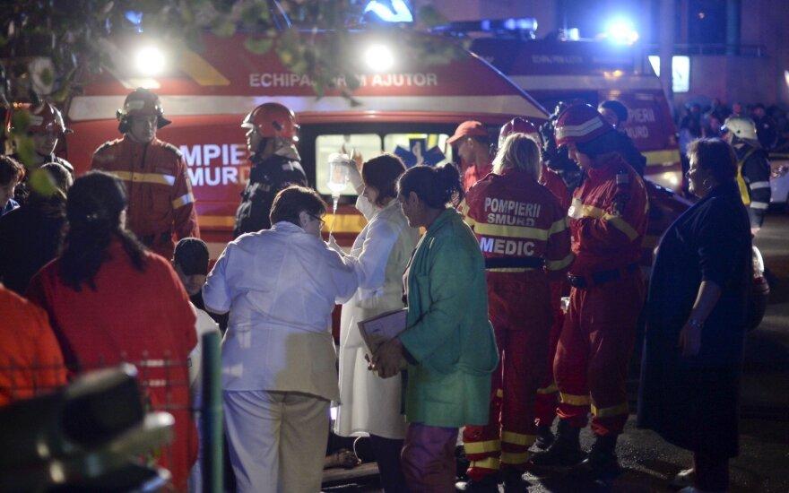 Išaugo Rumunijoje per gaisrą klube žuvusių žmonių skaičius