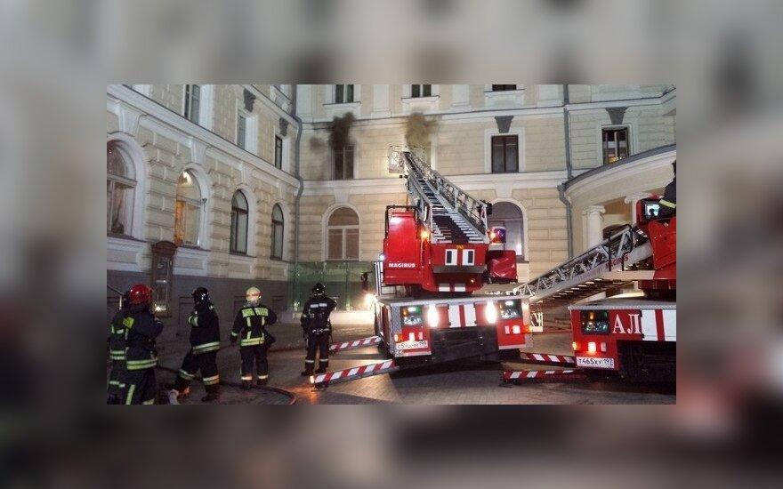 Skaitytojas užfiksavo gaisrą Maskvoje