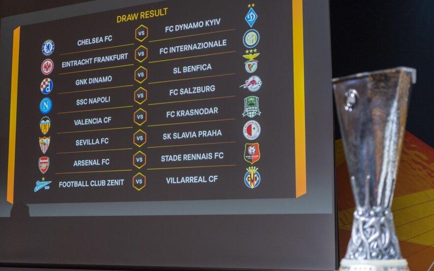 UEFA Europos futbolo lygos aštuntfinalio burtai – gailestingi favoritams