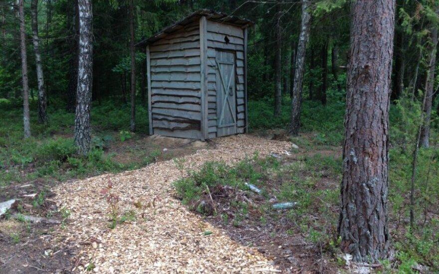 Lauko tualetas miške