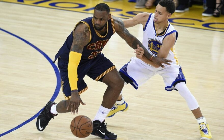 LeBronas Jamesas ir Stephenas Curry