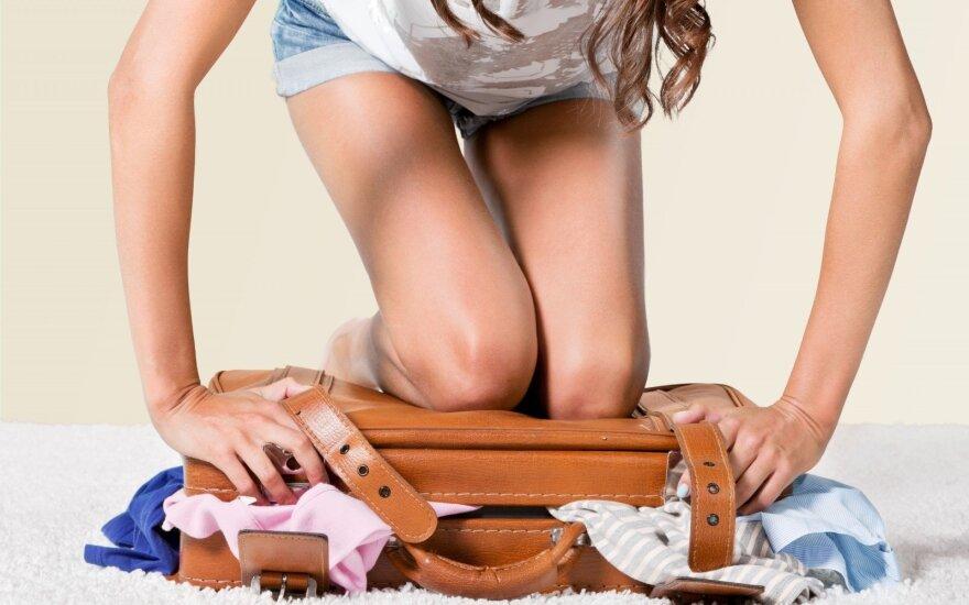 Bagažo pakavimo menas: viskas, ko reikia, gali sutilpti