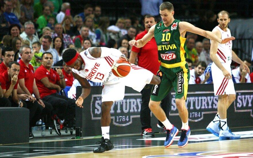 """""""Huawei"""" krepšinio turnyras. Lietuva - Turkija"""