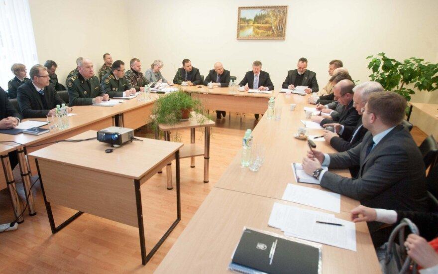 Seimo nacionalinio saugumo ir gynybos komitetas lankosi Medininkų pasienio kontrolės punkte