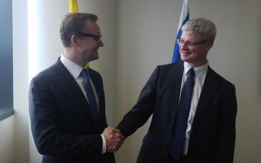 Political Director of the Ministry of Foreign Affairs of Israel Alon Ushpiz and Political Director of the Ministry of Foreign Affairs of Lithuania Rolandas Kačinskas