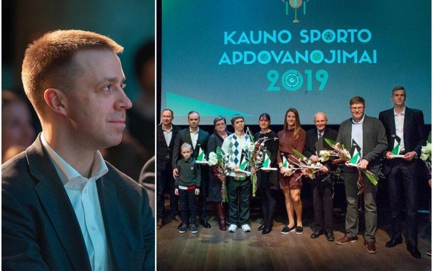 Paulius Motiejūnas (kairėje), geriausių Kauno sportininkų apdovanojimų laureatai (Foto: kaunas.lt)