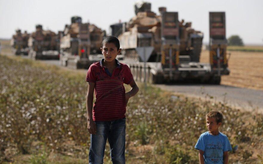 Turkų tankai Sirijoje