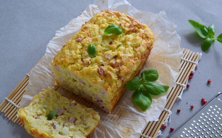 Cukinijų apkepas su sūriu – tiks vakarienei, pusryčiams ir pietų dėžutei