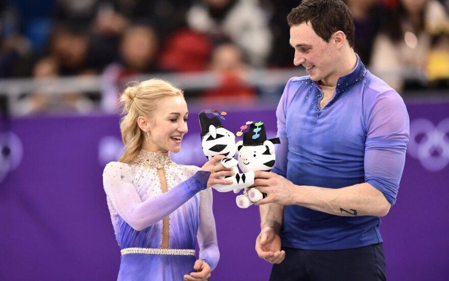 Pjongčango olimpiada: dailiojo čiuožimo sportinių porų varžybas laimėjo Vokietijos atstovai Aliona Savčenko ir Bruno Masso