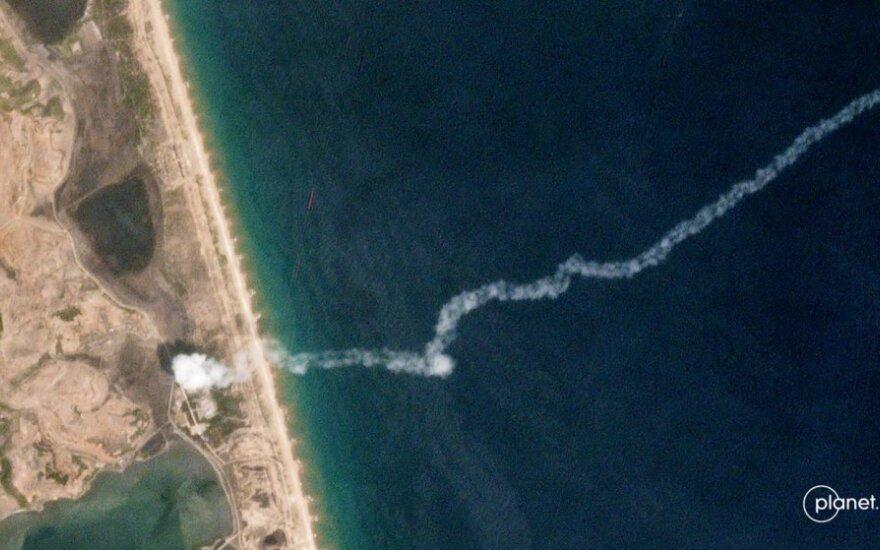 Šiaurės Korėjos raketos skrydžio trajektorija