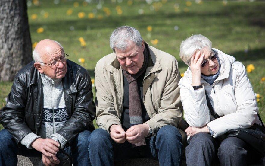 Pensininkų eitynės ir mitingas prie Prezidentūros