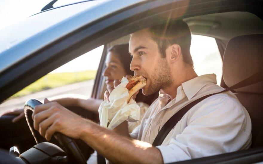 Vairuotojo dieta: kaip neapsnūsti ir nelikti alkanam