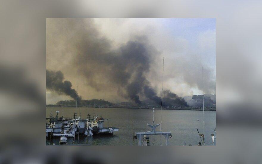 Šiaurės Korėjos artilerija apšaudė Pietų Korėjai priklausančią salą