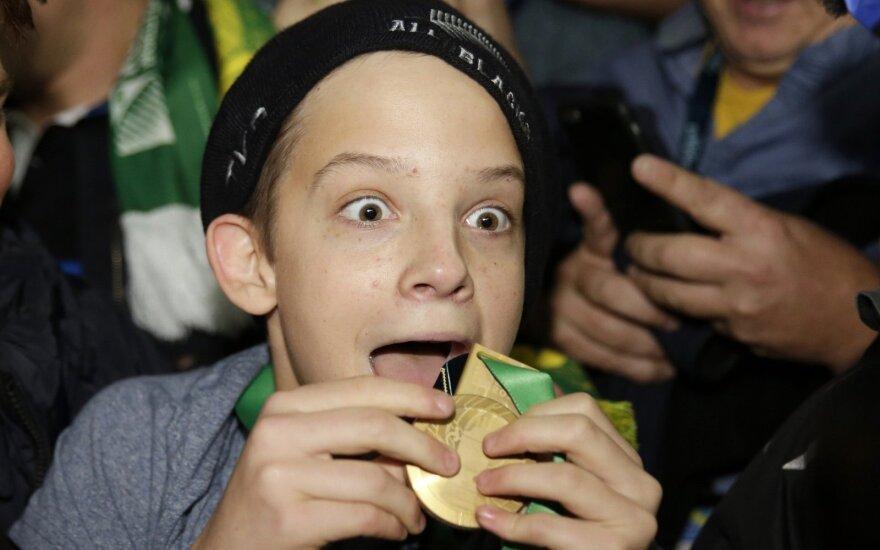 Charlie Linesas netikėtai gavo pasaulio regbio čempiono medalį