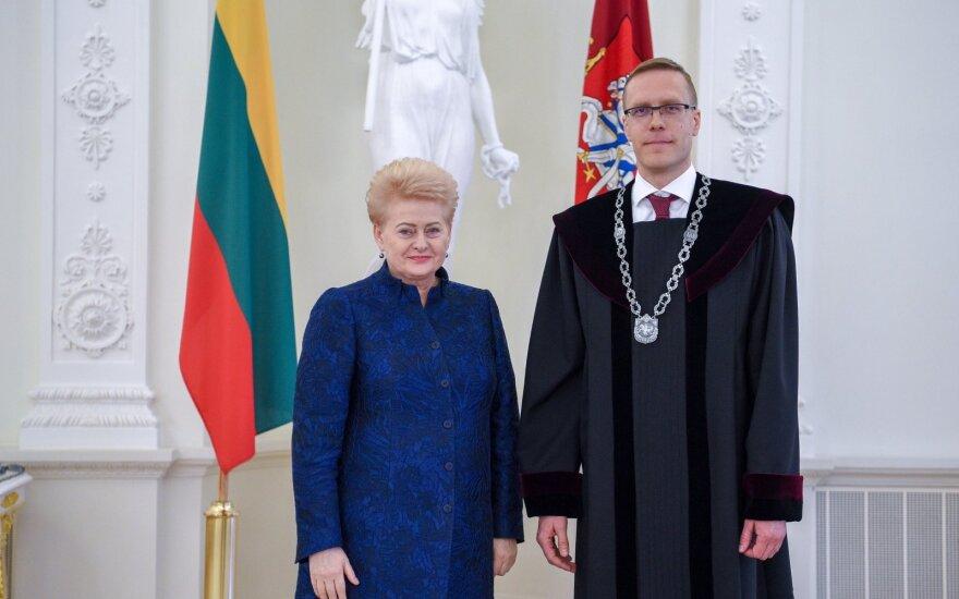 Aurimas Brazdeikis ir Dalia Grybauskaitė