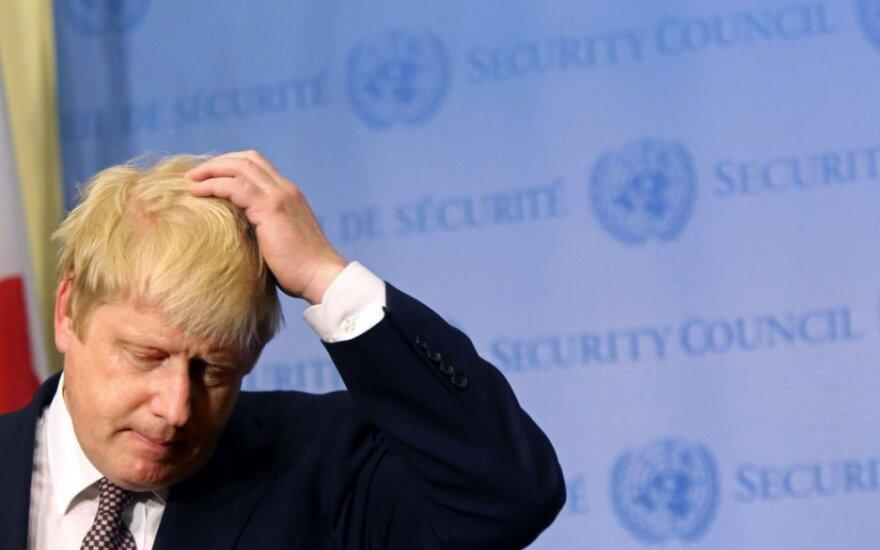 Dėl įvykių Sirijoje B. Johnsonas Maskvoje nepasirodys